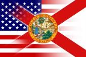 USA and Florida State Flag — Stock Photo