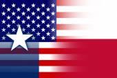 USA and Texas State Flag — Stock Photo