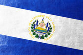 El Salvador Flag painted on leather texture — Stock Photo