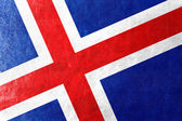 Iceland Flag painted on leather texture — Stock Photo