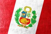 レザーのテクスチャに描かれたペルーの旗 — ストック写真