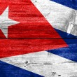 Cuba Flag painted on old wood plank texture — Stock Photo #59899179