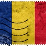 Romania Flag - old postage stamp — Stock Photo #60765877