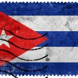 Cuba Flag - old postage stamp — Stock Photo #60762091