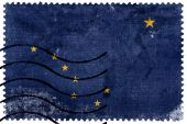 Alaska State Flag - old postage stamp — Стоковое фото