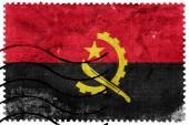 Angola Flag - old postage stamp — ストック写真