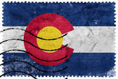 Colorado State Flag - old postage stamp — Stock Photo