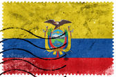 Ecuador Flag - old postage stamp — Stock Photo
