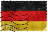 Germany Flag - old postage stamp — Stock Photo