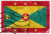 Grenada Flag - old postage stamp — Stock Photo