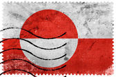 Greenland Flag - old postage stamp — Stock Photo