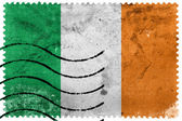 Ireland Flag - old postage stamp — Foto de Stock