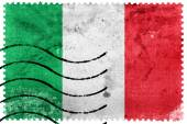 Italy Flag - old postage stamp — Stock Photo
