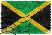 Drapeau Jamaïque - vieux timbre-poste — Photo