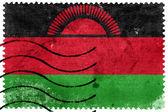 Malawi Flag - old postage stamp — Stock Photo