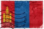 Mongolia Flag - old postage stamp — Stock Photo