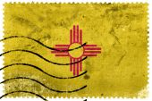 New Mexico State Flag - old postage stamp — Stock Photo