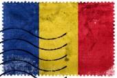 Rumäniens flagga - gamla frimärke — Stockfoto