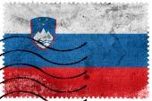 Slowenien-Flagge - alte Briefmarke — Stockfoto