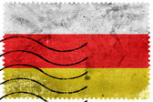 South Ossetia Flag - old postage stamp — Foto Stock