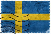 Sweden Flag - old postage stamp — Foto de Stock
