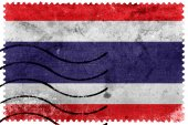 Thailand Flag - old postage stamp — Stock Photo