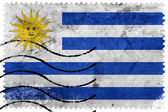 Uruguay Flagge - alte Briefmarke — Stockfoto