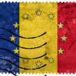 Romania and European Union Flag - old postage stamp — Stock Photo #60810363