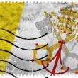 Vatican City Flag - old postage stamp — Stock Photo #60932601