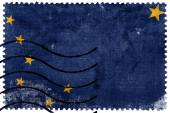 Alaska State Flag - old postage stamp — Stock Photo
