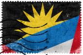 Antigua and Barbuda Flag - old postage stamp — Stock Photo