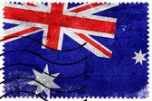 Australia Flag - old postage stamp — ストック写真