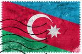 Azerbaijan Flag - old postage stamp — Stock Photo