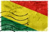 Bolivia Flag - old postage stamp — Stock Photo