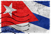 Cuba Flag - old postage stamp — Stock Photo