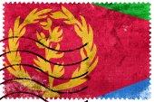 Eritrea Flag - old postage stamp — Stock Photo