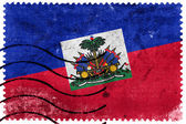 Haiti Flag - old postage stamp — Stock Photo