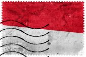 Indonesia Flag - old postage stamp — Foto Stock