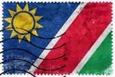 Namibia Flag - old postage stamp — Stock Photo