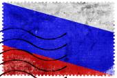 Russia Flag - old postage stamp — Stockfoto