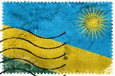 Rwanda Flag - old postage stamp — Stock fotografie
