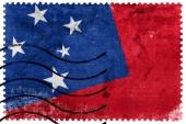 флаг самоа - старая почтовая марка — Стоковое фото