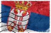 Serbia Flag - old postage stamp — Stock Photo