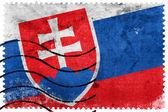 Slovakia Flag - old postage stamp — Foto de Stock