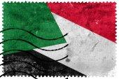 Sudan Flag - old postage stamp — Stock Photo