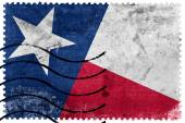 Texas State Flag - old postage stamp — Stock Photo