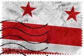 Washington DC Flag - old postage stamp — Stock Photo
