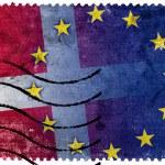 Denmark and European Union Flag - old postage stamp — Stock Photo #61045481