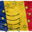Romania and European Union Flag - old postage stamp — Stock Photo #61045559