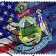 USA and Maine State Flag - old postage stamp — Stock Photo #61048319